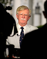 National Security Advisor John R. Bolton participates in a network interview at the White House in Washington, DC on Wednesday, July 31, 2019. Photo Credit: Ron Sachs/CNP/AdMedia