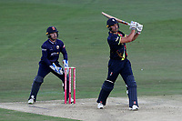 Marcus Stoinis hits 6 runs for Kent as Adam Wheater looks on from behind the stumps during Kent Spitfires vs Essex Eagles, Vitality Blast T20 Cricket at the St Lawrence Ground on 2nd August 2018