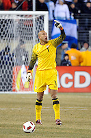 United States goalkeeper Tim Howard (1). The United States (USA) and Argentina (ARG) played to a 1-1 tie during an international friendly at the New Meadowlands Stadium in East Rutherford, NJ, on March 26, 2011.