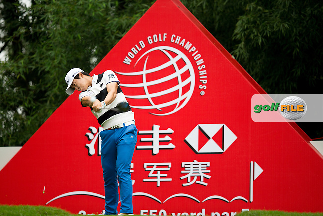 Younghan Song (KOR) on the 2nd tee during the 1st round f the WGC-HSBC Champions, Sheshan International GC, Shanghai, China PR.  27/10/2016<br /> Picture: Golffile | Fran Caffrey<br /> <br /> <br /> All photo usage must carry mandatory copyright credit (&copy; Golffile | Fran Caffrey)