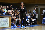 22 November 2016: Duke head coach Joanne P. McCallie. The Duke University Blue Devils hosted the Old Dominion University Monarchs at Cameron Indoor Stadium in Durham, North Carolina in a 2016-17 NCAA Division I Women's Basketball game. Duke won the game 92-64.