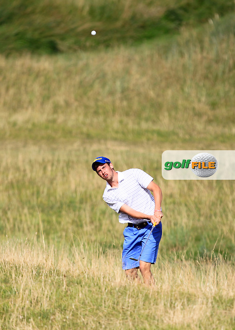 Alex Gleeson (Castle) on the 10th fairway during the South of Ireland Amateur Open Championship Quarter Finals at Lahinch Golf Club  30th July 2013 <br /> Picture:  Thos Caffrey / www.golffile.ie