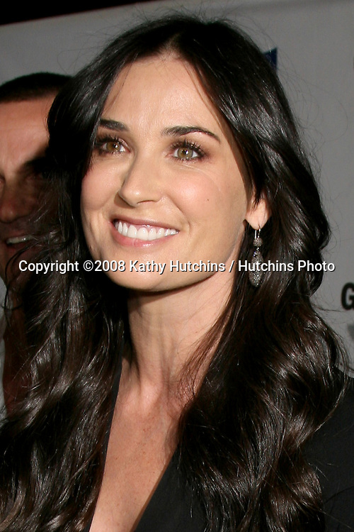 """Demi Moore  arriving at the """"Glamour Reel Moments"""" Premieres of a Series of Short Films Written & Directed by Women in Hollywood at the Director's Guild Theater in Los Angeles, CA.October 14, 2008.©2008 Kathy Hutchins / Hutchins Photo...                ."""