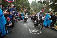 defending champion Tony Martin (GER/Katusha-Alpecin) up Mount Fløyen<br /> <br /> Men Elite Individual Time Trial<br /> <br /> UCI 2017 Road World Championships - Bergen/Norway