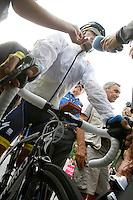 Alberto Contador after the stage of La Vuelta 2012 between Lleida-Lerida and Collado de la Gallina (Andorra).August 25,2012. (ALTERPHOTOS/Acero) /NortePhoto.com<br /> <br /> **CREDITO*OBLIGATORIO** <br /> *No*Venta*A*Terceros*<br /> *No*Sale*So*third*<br /> *** No*Se*Permite*Hacer*Archivo**<br /> *No*Sale*So*third*