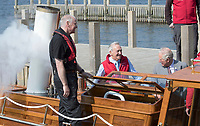 08 April 2019 - UK - Prince Charles Prince of Wales looks at Beatrix Potter's rowing boat during the opening of the Windermere Jetty Museum of Boats, Steam & Stories at Bowness-on-Windermere, in Cumbria. Photo Credit: ALPR/AdMedia