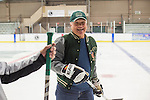 Tom Gosiorowski skates with other 1960s hockey alumni at Bird Arena on October 1, 2016.