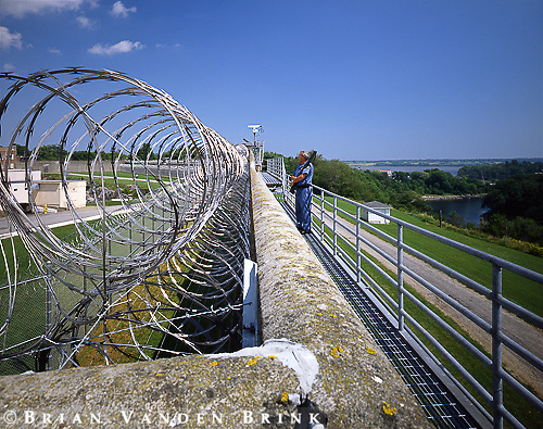 Razor Wire & Guard, West Wall