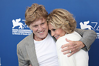 """Robert Redford, Jane Fonda at the """"Our Souls At Night"""" photocall, 74th Venice Film Festival in Italy on 1 September 2017.<br /> <br /> Photo: Kristina Afanasyeva/Featureflash/SilverHub<br /> 0208 004 5359<br /> sales@silverhubmedia.com"""