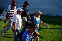 Marc Leishman (AUS) makes his way down 17 during round 1 foursomes of the 2017 President's Cup, Liberty National Golf Club, Jersey City, New Jersey, USA. 9/28/2017.<br /> Picture: Golffile   Ken Murray<br /> ll photo usage must carry mandatory copyright credit (&copy; Golffile   Ken Murray)