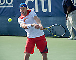 Jack Sock (USA) defeats Igor Sijsling (NED 6-4, 6-2 at the CitiOpen 2013 in Washington, D.C., Washington, D.C.  District of Columbia on July 30, 2013.
