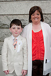 Ben Flanagan who made his First Communion at Our Lady of Lourdes Church on Saturday 16th May, pictured with mum Linda.