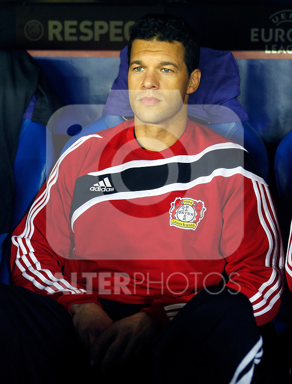 Bayer 04 Leverkusen's Michael Ballack during UEFA Europa League match.March 17,2011. (ALTERPHOTOS/Acero)