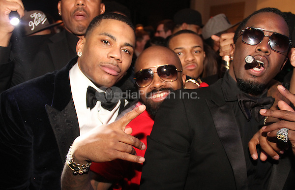 LOS ANGELES, CA - JANUARY 26: Nelly, Jermaine Dupri, Bow Wow and Sean Combs at Meek Mill GRAMMY After Party at on January 26, 2014 in Los Angeles, California. Photo Credit: Walik Goshorn/MediaPunch