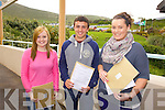 Students from Colaiste na Sceilge, Cahersiveen are very happy with their Leaving Cert results pictured here l-r; Cara Sheehan, Cillian O'Donovan & Kate O'Shea.