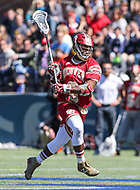 Washington, DC - March 31, 2018: Denver Pioneers Trevor Baptiste (9) in action during game between Denver and Georgetown at  Cooper Field in Washington, DC.   (Photo by Elliott Brown/Media Images International)