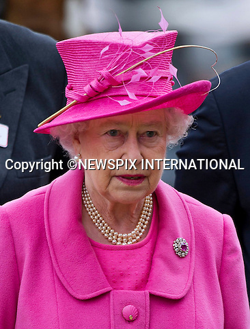 "THE QUEEN.The Royal Windsor Horse Show 2011, Windsor_14/05/2011.Mandatory Photo Credit: ©Dias/Newspix International..**ALL FEES PAYABLE TO: ""NEWSPIX INTERNATIONAL""**..PHOTO CREDIT MANDATORY!!: NEWSPIX INTERNATIONAL(Failure to credit will incur a surcharge of 100% of reproduction fees)..IMMEDIATE CONFIRMATION OF USAGE REQUIRED:.Newspix International, 31 Chinnery Hill, Bishop's Stortford, ENGLAND CM23 3PS.Tel:+441279 324672  ; Fax: +441279656877.Mobile:  0777568 1153.e-mail: info@newspixinternational.co.uk"