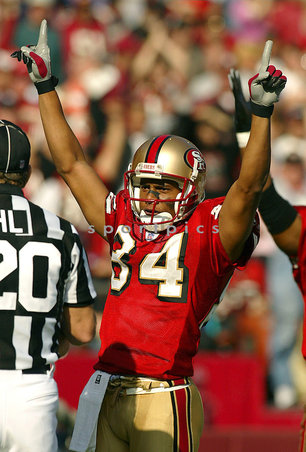 Cedrick Wilson during the San Francisco 49ers v. Seattle Seahawks game on November 7, 2004...Seattle wins 42-27..Rob Holt / SportPics
