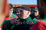 Peter Summerville gives his halftime thoughts to the Waiuku players. Counties Manukau Premier Club Rugby game between Waiuku & Ardmore Marist played at Waiuku on Saturday 20th June, 2009. Waiuku won the game 28 - 25.