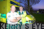 DRINK SENSIBLY: Kerry Paramedics Pat Hannifin and Mike Walsh hope a dedicated unit will be set up to house intoxicated people on busy nights.