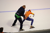 SPEEDSKATING: CALGARY: Olympic Oval, 02-12-2017, ISU World Cup, Team Pursuit NED, Geert Kuiper, Lotte van Beek (NED), ©photo Martin de Jong