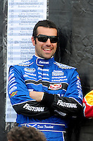 Apr 26, 2008; Talladega, AL, USA; NASCAR Nationwide Series driver Dario Franchitti prior to the Aarons 312 at the Talladega Superspeedway. Mandatory Credit: Mark J. Rebilas-