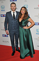 Richard Jones and iMaria Bravo at the Football For Peace Initiative Dinner by Global Gift Foundation, Corinthia Hotel, Whitehall Place, London, England, UK, on Monday 08th April 2019.<br /> CAP/CAN<br /> ©CAN/Capital Pictures