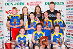 The Kilmurry NS team celebrate after winning Junior NS final at the St Mary's Basketball blitz in Castleisland on Sunday front row l-r: Alannak Kelliher, Caitlin Griffin, Leah Griffin. Back Row: Amanda Gleasure, Therese Healy, Lauren O'Mahony, Robin Smith and Michelle Myers, Back row: Therese Higgins, Shauna Ahern Miss Basketball and Eamon John O'Donoghue coach