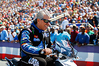 Mar 18, 2017; Gainesville , FL, USA; NHRA funny car driver John Force during qualifying for the Gatornationals at Gainesville Raceway. Mandatory Credit: Mark J. Rebilas-USA TODAY Sports