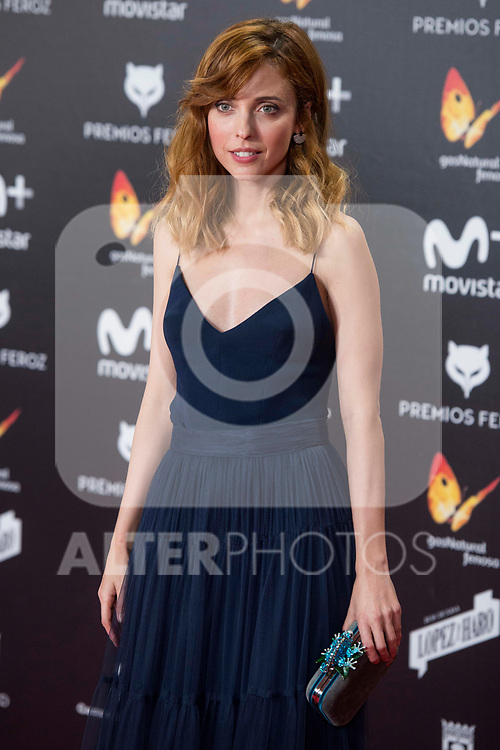 Leticia Dolera attends red carpet of Feroz Awards 2018 at Magarinos Complex in Madrid, Spain. January 22, 2018. (ALTERPHOTOS/Borja B.Hojas)