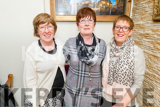 Mary Shea (Tralee), Marion Long (Ventry) and Mary Devane (Killarney) enjoying the evening in Bella Bia on Saturday.
