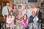 BIRTHDAY GIRL: Aileen Flavin, Fenit having a wonderful time celebrating her 60th birthday with family and friends at the Manor West hotel, Tralee on Saturday seated l-r: Heather McCann, Mags McCann, Aileen Flavin, Ava McCann, Maurice O'Brien and Aisling O'Brien. Back l-r: Declan McCann, Philamena McCann, Mags McCann, Christine Kelly, Brian McCann and Annmaire O'Brien.