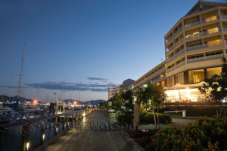 Marlin Marina and Shangri-La Hotel.  Cairns, Queensland, Australia