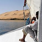 Croisière sur le Nil en felouque en Egypte