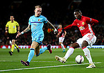 Paul Pogba of Manchester United takes on Rick Karsdorp of Feyenoord during the UEFA Europa League match at Old Trafford, Manchester. Picture date: November 24th 2016. Pic Matt McNulty/Sportimage