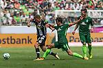 15.07.2017, Borussia Park, Moenchengladbach, GER, TELEKOM CUP 2017 - Borussia Moenchengladnach vs SV Werder Bremen<br /> <br /> im Bild<br /> Mickael Cuisane (Moenchengladbach #27) im Duell / im Zweikampf mit Thomas Delaney (Werder Bremen #6), <br /> <br /> Foto &copy; nordphoto / Ewert