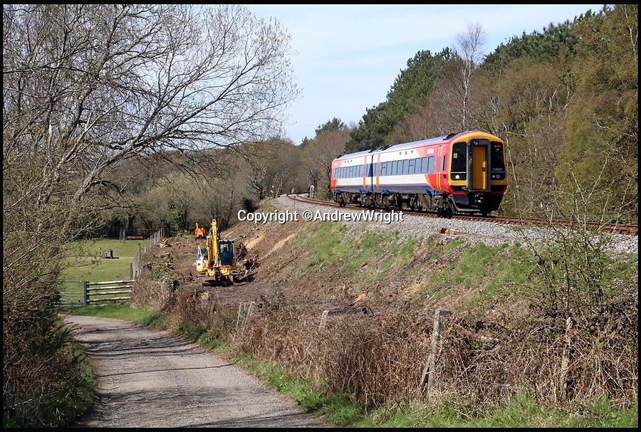 BNPS.co.uk (01202 558833)<br /> Pic: AndrewWright/BNPS<br /> <br /> The first train makes its way along the extension.<br /> <br /> A public train service is to run on a railway line ripped up in the 'Beeching Axe' thanks to an army of volunteers who have spent 45 years painstakingly rebuilding it. 