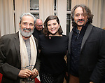 Craig Lucas, Rachel Routh and Frankie Krainz during The DGF's 14th Biannual Madge Evans & Sidney Kingsley Awards at the Dramatists Guild Fund headquarters on April 4, 2016 in New York City.