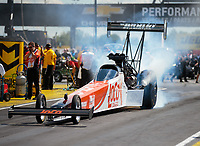 Sep 3, 2018; Clermont, IN, USA; NHRA top fuel driver Blake Alexander during the US Nationals at Lucas Oil Raceway. Mandatory Credit: Mark J. Rebilas-USA TODAY Sports