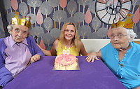 L-R Sylvia Williams, Liz Stickler from Tesco and Constance Skinner