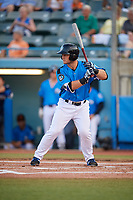 Hudson Valley Renegades designated hitter Erik Ostberg (21) at bat during a game against the Tri-City ValleyCats on August 24, 2018 at Dutchess Stadium in Wappingers Falls, New York.  Hudson Valley defeated Tri-City 4-0.  (Mike Janes/Four Seam Images)