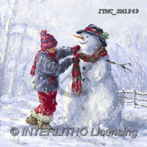 Marcello, CHRISTMAS SANTA, SNOWMAN, WEIHNACHTSMÄNNER, SCHNEEMÄNNER, PAPÁ NOEL, MUÑECOS DE NIEVE, paintings+++++,ITMCXM1249,#X#