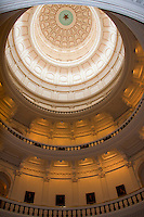 Capitol Dome Interior in the Texas' Capitol Building in Austin, Texas, USA