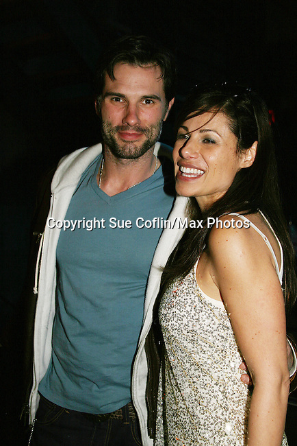 Austin Peck & Marie Wilson at Trent Dawson's 6th Annual Martinis With Henry on April 17, 2010 at Latitude, New York City, New York. (Photo by Sue Coflin/Max Photos)