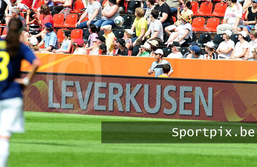 Fifa Women's World Cup Germany 2011 : Colombia - Sweden at Bayarena Leverkusen : Boarding : Leverkusen.foto DAVID CATRY / Vrouwenteam.be