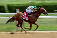 SARATOGA SPRINGS, NY - AUGUST 25: Promises Fulfilled, #1, ridden by jockey Luis Saez, wins the H. Allen Jerkins Stakes on Travers Stakes Day at Saratoga Race Course on August 25, 2018 in Saratoga Springs, New York. (Photo by Sue Kawczynski/Eclipse Sportswire/Getty Images)