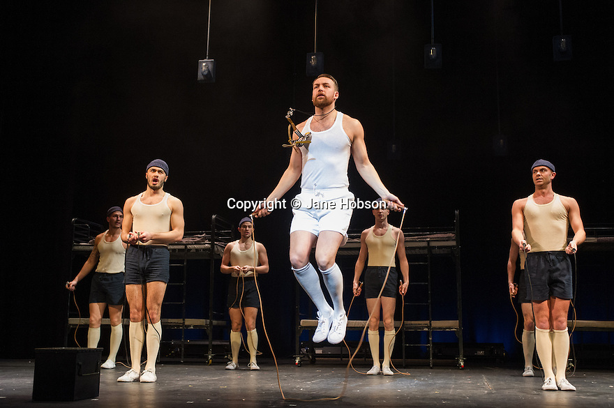 London, UK. 14.02.2014. Regan de Wynter Ltd, in association with Hilary A Williams present Gilbert and Sullivan's HMS PINAFORE, at the Hackney Empire from Friday 14th to Sunday 23rd February, prior to an 8 week UK tour. Picture shows: Neil Moors (Captain Corcoran). Photograph © Jane Hobson.