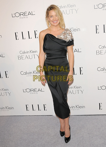KATE HUDSON .walks the carpet as Elle Honors Hollywood's Most Esteemed Women in the 17th Annual Women in Hollywood Tribute held at The Four Seasons Beverly Hills in Beverly Hills, California, USA, October 18th 2010..full length dress  one shoulder black silver paillettes     mid shoes                           .CAP/RKE/DVS.©DVS/RockinExposures/Capital Pictures.