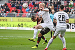 16.03.2019, BWT-Stadion am Hardtwald, Sandhausen, GER, 2. FBL, SV Sandhausen vs FC St. Pauli, <br /> <br /> DFL REGULATIONS PROHIBIT ANY USE OF PHOTOGRAPHS AS IMAGE SEQUENCES AND/OR QUASI-VIDEO.<br /> <br /> im Bild: Jesper Verlaat (#4, SV Sandhausen) gegen Alexander Meier (FC St. Pauli #9)<br /> <br /> Foto &copy; nordphoto / Fabisch
