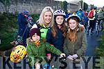 Seadhna Ferris Ó Ceallaigh, Toiréasa Ferris, Liadain Ferris Ní Ceallaigh and Oirliath McGrath, who took part in the Green Way Cycle on Sunday last.